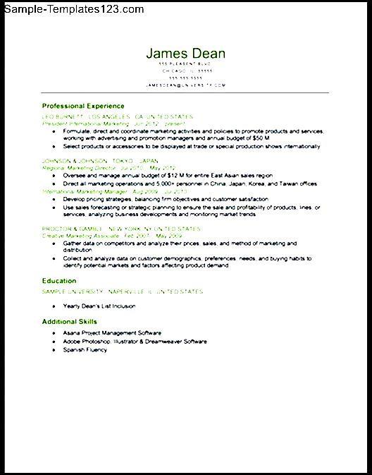 Chronological Resume  Apache OpenOffice Templates
