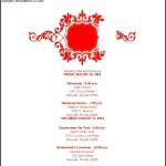 Royal Coral Wedding Itinerary Template