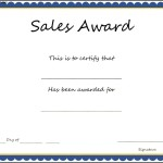 Sales Award Certificate Template