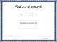 Sales Award Certificate Template