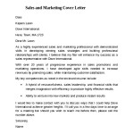 Sales and Marketing Cover Letter Example