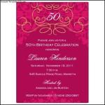 Sample 50th Birthday Invitation Template