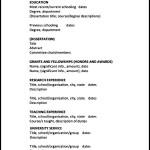 Sample Academic CV Template~1
