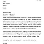 Sample Acknowledgement letter Sample for Receipt of Resume