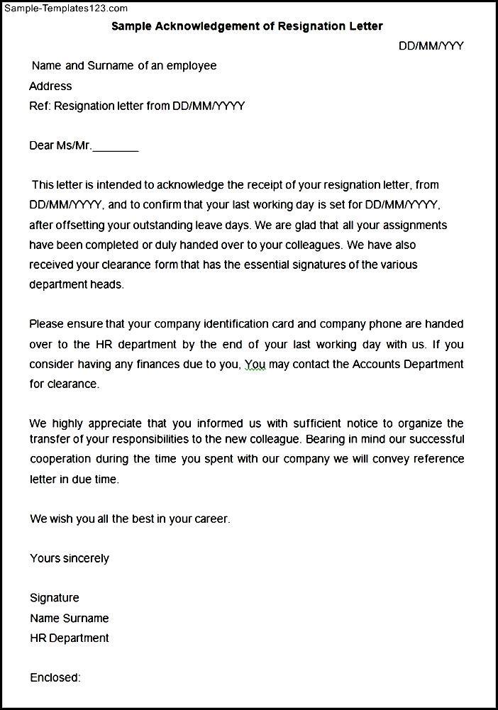 Resignation acknowledgement letter gallery letter format formal sample acknowledgement of resignation letter gallery letter format formal acknowledgement of resignation letter gallery letter format formal spiritdancerdesigns Gallery