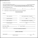 Sample Authorization Letter Form