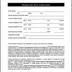 Sample Background Check Form