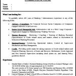 Sample Banking Resume Template