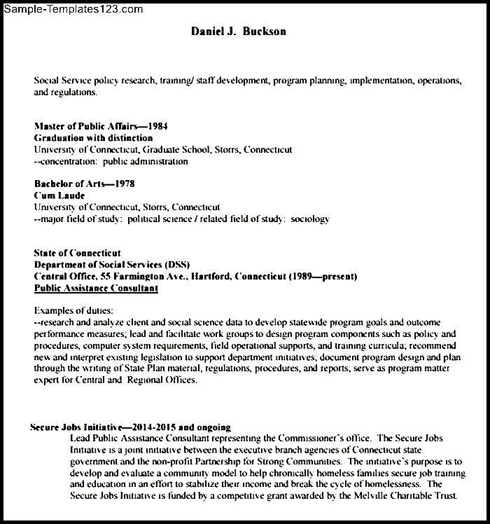 sample basic resume format sample templates