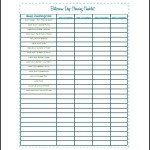 Sample Bathroom Cleaning List Template