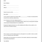 Sample Bedroom Tax Appeal Letter Template Word Format Download