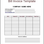 Sample Billing Invoice Template Word