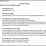 Sample Birthday Greeting Itinerary Free Doc Template