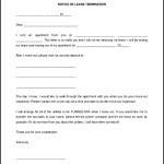 Sample Blank Lease Termination Letter Template Editable Word