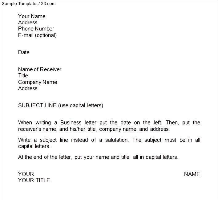 Sample business letter format pdf
