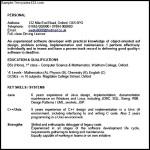 Sample CV PDF Java Develover
