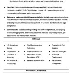 Sample CV Template HR Recruitment