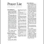 Sample Catholic Prayer List Template