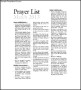 Sample Catholic Prayer List Template