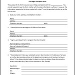 Civil Rights Complaint Form | Sample Templates