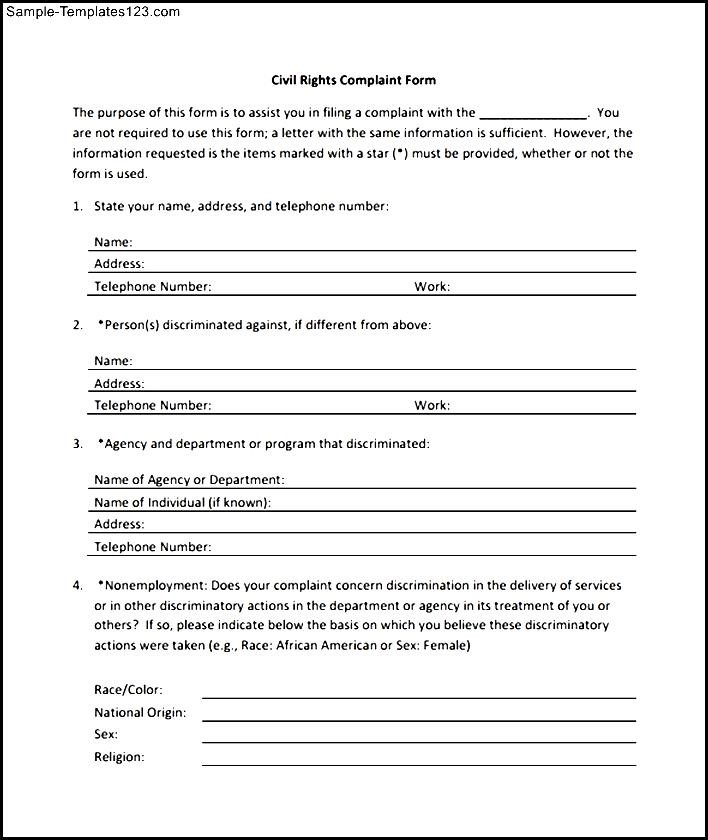 Best Sample Civil Complaint Form Contemporary - Top Resume ...