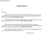 Sample Closing Business Letter
