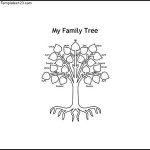 Sample Colorable Family Tree for Kids