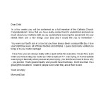 Sample Confirmation Letter to Child