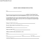 Sample Credit Card Authorization Letter PDF