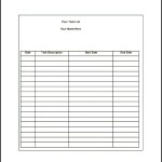 Sample Daily Task List Template Word