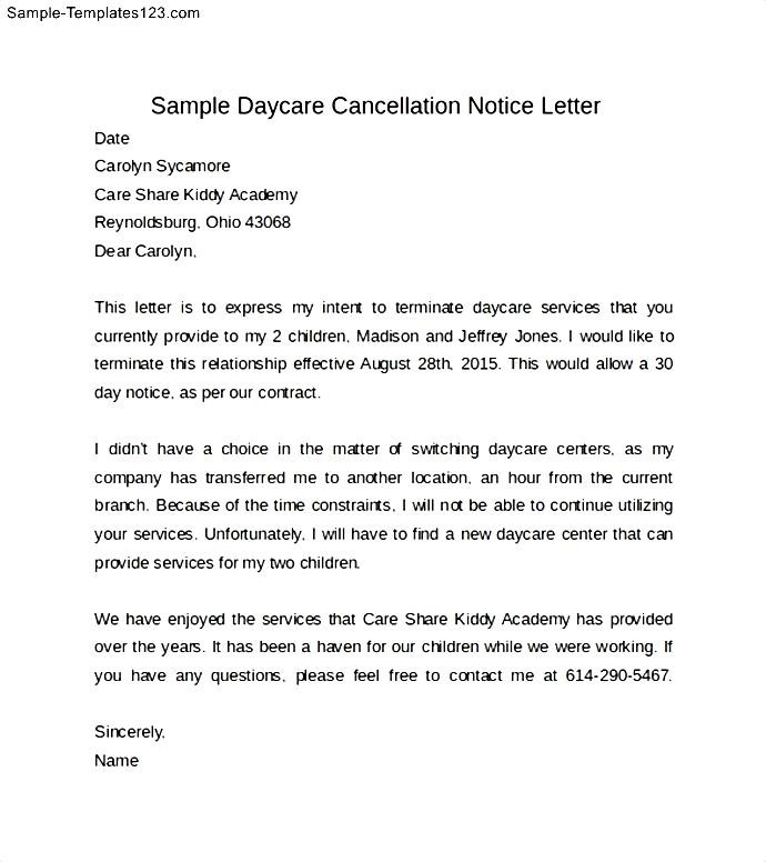 school admission cancellation letter