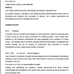 Sample Designer Resume Format Template