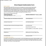 Sample Direct Deposit Authorization Form