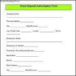 Sample Direct Deposit Authorization Form Download