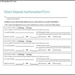 Sample Direct Deposit Authorization Form Free