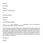 Sample Donation Request Letter Word