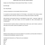 Sample Email Cover Letter Word Template Free Download