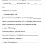 Sample Employee Assessment Form