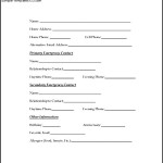 Sample Employee Emergency Contact Form