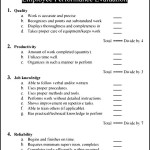 Sample Employee Performance Evaluation