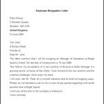 Sample Employee Resignation Letter