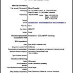 Sample Europass Curriculum Vitae PDF