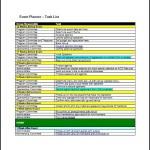 Sample Event Task List Template