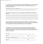 Sample Example of Employee Complaint Form