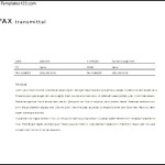 Sample Fax Cover Letter Free Word Template Download