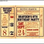 Sample Football Party Ticket Invitation Template