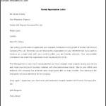 Sample Formal Appreciation Letter Template Word Format