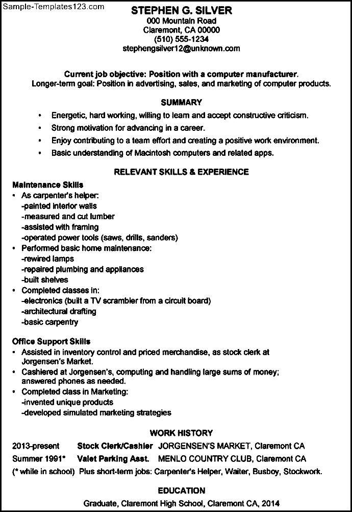 sle functional resume manufacturing sle templates