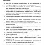 Sample HR Manager Job Description Template