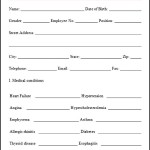 Sample Health Assessment Form